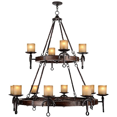 Livex Lighting 12-Light Olde Bronze Chandelier (4869-67)