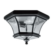 Livex Lighting 3-Light Black Flush Mount with Clear Beveled Glass (7053-04)