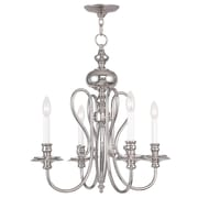 Livex Lighting 4-Light Polished Nickel Chandelier (5164-35)