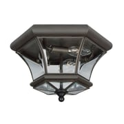 Livex Lighting 3-Light Bronze Flush Mount with Clear Beveled Glass Shade (7053-07)