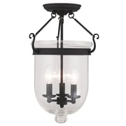 Livex Lighting 3-Light Black Semi-Flush Mount (5062-04)