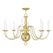 Livex Lighting 8-Light Polished Brass Chandelier (5007-02)