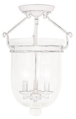 Livex Lighting 3-Light Antique White Flush Mount (5062-60)