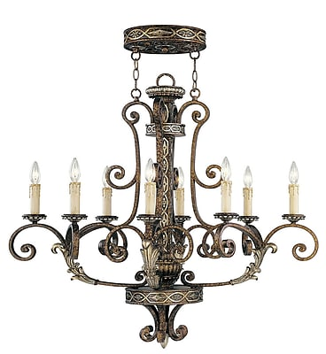 Livex Lighting 8-Light Palacial Bronze with Gilded Accents Chandelier (8538-64)