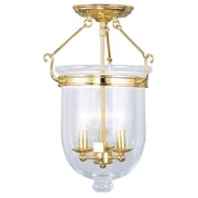 Livex Lighting 3-Light Polished Brass Semi-Flush Mount (5062-02)