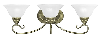 Livex Lighting 3-Light Antique Brass Bath Vanity Light (6103-01)