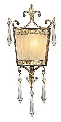 Livex Lighting 1-Light Vintage Gold Leaf Wall Sconce (8880-65)