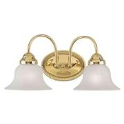 Livex Lighting 2-Light Polished Brass Bath Vanity Light (1532-02)