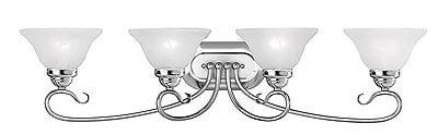 Livex Lighting 4-Light Chrome Bath Vanity Light (6104-05)