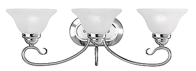 Livex Lighting 3-Light Chrome Bath Vanity Light (6103-05)