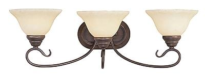 Livex Lighting 3-Light Imperial Bronze Bath Vanity Light (6103-58)