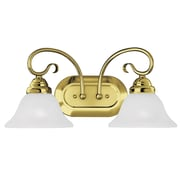 Livex Lighting 2-Light Polished Brass Bath Vanity Light (6102-02)