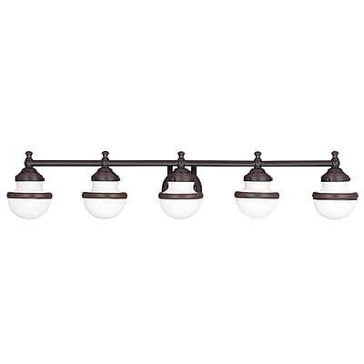 Livex Lighting 5-Light Olde Bronze Bath Vanity Light (5715-67)