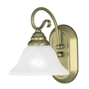 Livex Lighting 1-Light Wall Antique Brass Bath Vanity (6101-01)