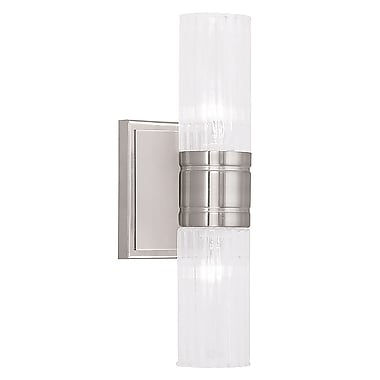 Livex Lighting 2-Light Brushed Nickel Bath Light (50692-91)