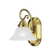 Livex Lighting 1-Light Wall Polished Brass Bath Vanity (6101-02)