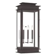 Livex Lighting 3-Light Bronze Wall Lantern with Clear Glass (20208-07)