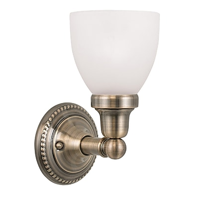 Livex Lighting 3-Light Verona Bronze Bath Light with Rustic Art Glass and Aged Gold Leaf Accents (1021-01)