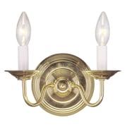 Livex Lighting 2-Light Polished Brass Wall Sconce (5018-02)