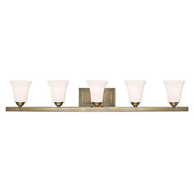 Livex Lighting 5-Light Antique Brass Bath Light (6485-01)