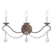 Livex Lighting 3-Light Hand Applied Venetian Golden Bronze Wall Sconce (6458-71)