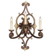 Livex Lighting 3-Light Palacial Bronze Wall Sconce with Gilded Accents (8863-64)