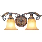 Livex Lighting 2-Light Verona Bronze Bath Vanity Light with Aged Gold Leaf Accents (8552-63)