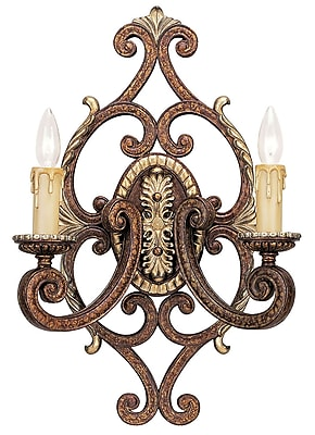 Livex Lighting 2-Light Palacial Bronze Wall Sconce with Gilded Accents (8862-64)