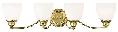 Livex Lighting 4-Light Polished Brass Bath Light (13674-02)