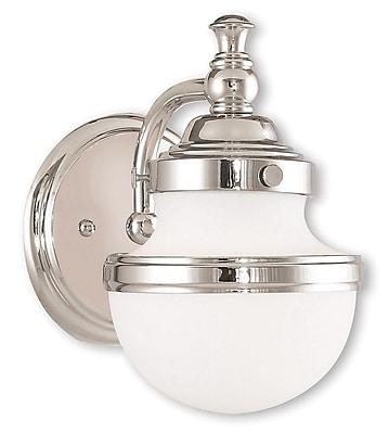 Livex Lighting 1-Light Polished Chrome Bath Light (5711-05)