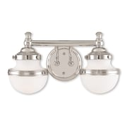 Livex Lighting 2-Light Polished Chrome Bath Light (5712-05)