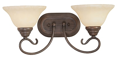 Livex Lighting 2-Light Imperial Bronze Bath Vanity Light (6102-58)