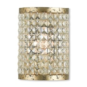 Livex Lighting 1-Light Hand Applied Winter Gold ADA Sconce (50571-28)