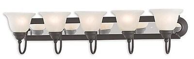 Livex Lighting 5-Light Bronze and Chrome Bath Light (1005-75)