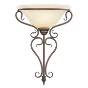 Livex Lighting 1-Light Imperial Bronze Wall Mount Sconce (6182-58)