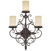 Livex Lighting 3-Light Imperial Bronze Wall Sconce (5482-58)