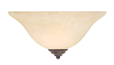 Livex Lighting 1-Light Imperial Bronze Sconce with Vintage Scavo Glass (6120-58)
