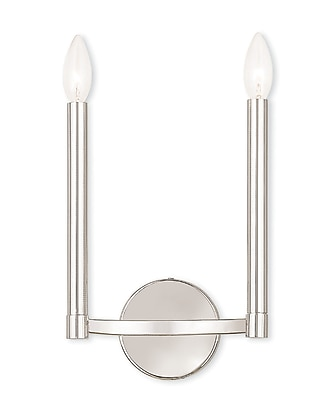 Livex Lighting 2-Light Polished Nickel ADA Sconce (40242-35)