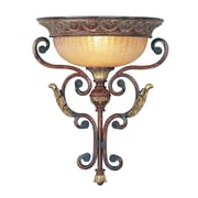 Livex Lighting 1-Light Verona Bronze with Aged Gold Leaf Accents Wall Mount Sconce (8580-63)