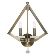 Livex Lighting 2-Light Antique Brass Wall Sconce (50662-01)