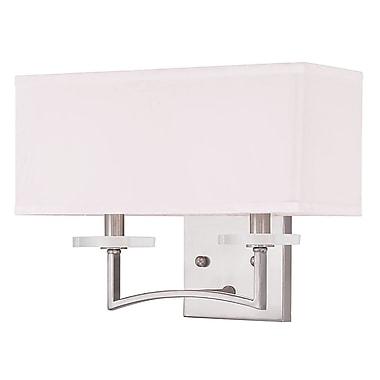 Livex Lighting 2-Light Brushed Nickel Sconce (50702-91)