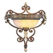 Livex Lighting 1-Light Wall Palacial Bronze with Gilded Accents Wall Sconce (8531-64)