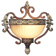 Livex Lighting 1-Light Palatial Bronze with Gilded Accents Wall Mount Sconce (8540-64)