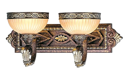 Livex Lighting 2-Light Wall Palacial Bronze with Gilded Accents Medium Bath Vanity (8532-64)