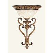 Livex Lighting 1-Light Venetian Patina Wall Sconce with Vintage Carved Scavo Glass (8460-57)