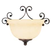 Livex Lighting 1-Light Imperial Bronze Wall Sconce with Vintage Scavo Glass Shade (6161-58)