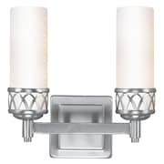 Livex Lighting 2-Light Brushed Nickel Candelabra Bath Vanity Light (4722-91)