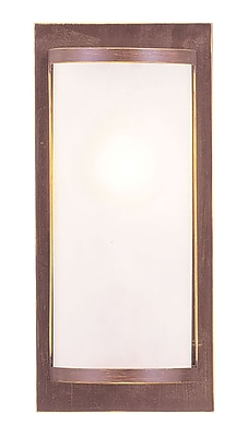 Livex Lighting 1-Light Vintage Bronze Wall Sconce with Satin Glass Shade (6280-70)