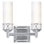 Livex Lighting 2-Light Wall Chrome Candelabra Bath Vanity (4722-05)