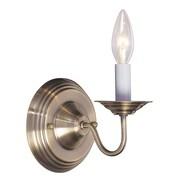 Livex Lighting 1-Light Antique Brass Wall Sconce (5017-01)